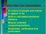 positive flight crew characteristics