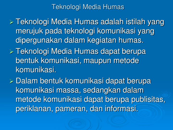 Teknologi Media Humas