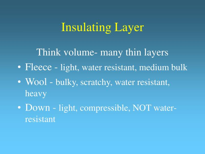 Insulating Layer