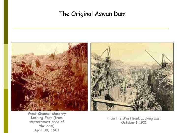 The Original Aswan Dam