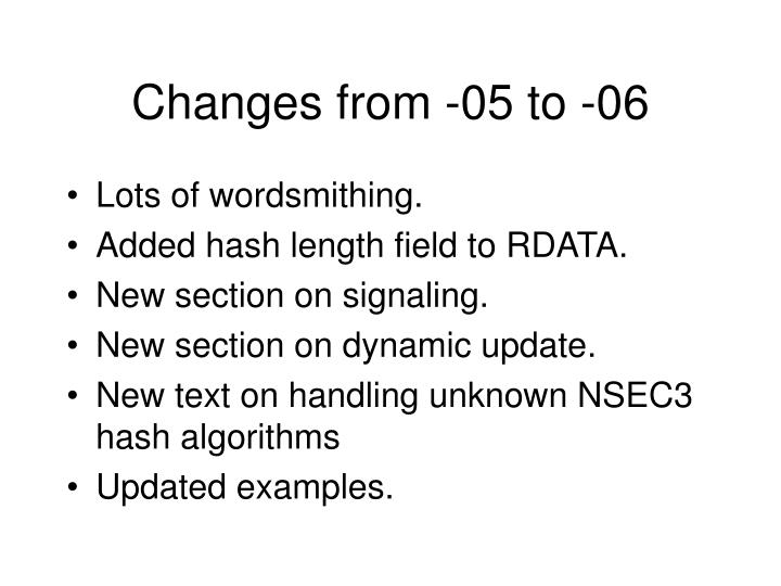 Changes from -05 to -06