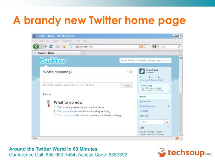 A brandy new Twitter home page