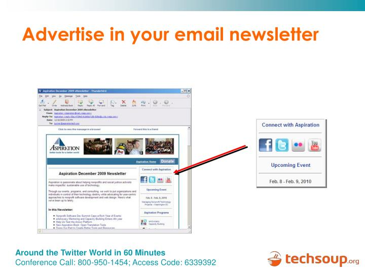 Advertise in your email newsletter