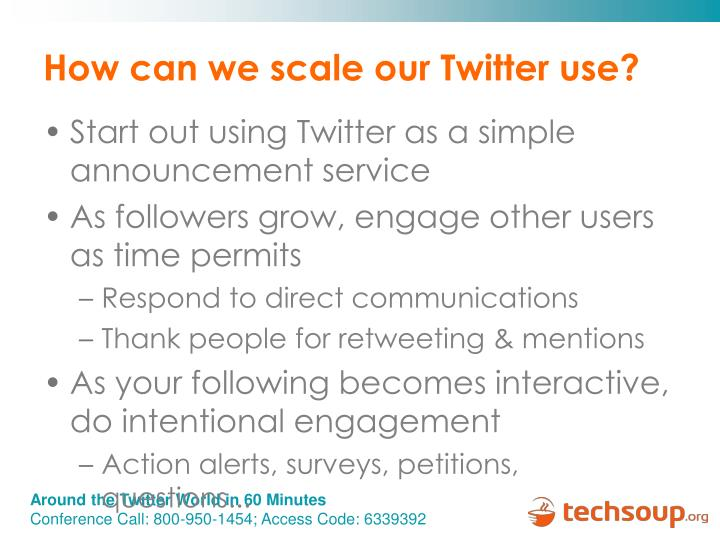 How can we scale our Twitter use?