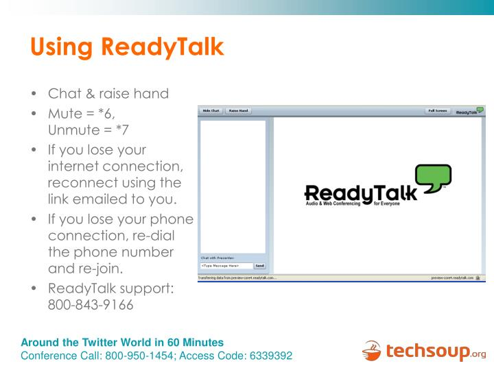 Using ReadyTalk