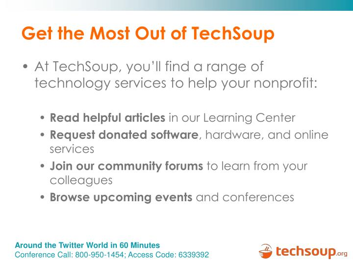 Get the Most Out of TechSoup
