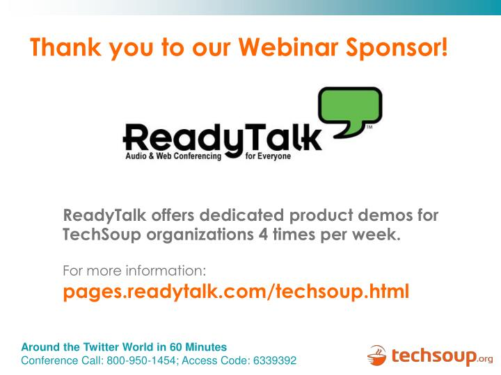Thank you to our Webinar Sponsor!