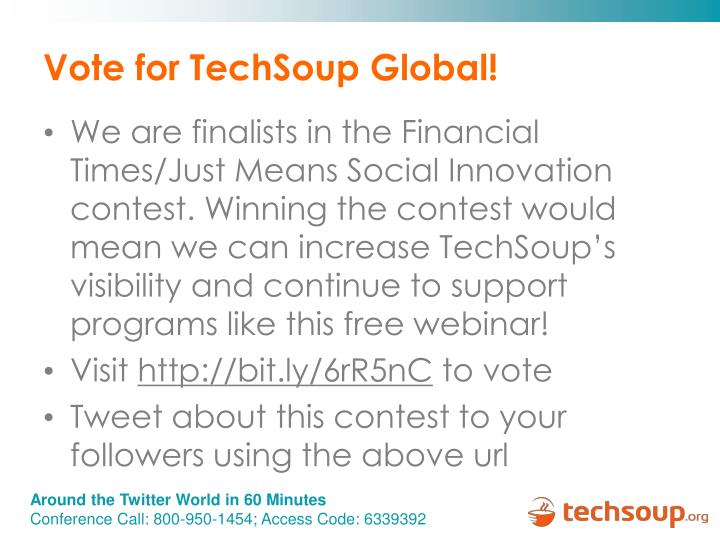 Vote for TechSoup Global!