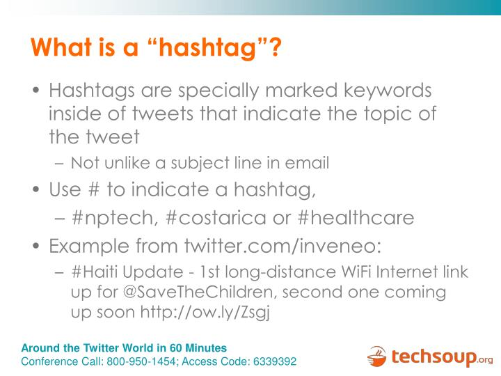 "What is a ""hashtag""?"