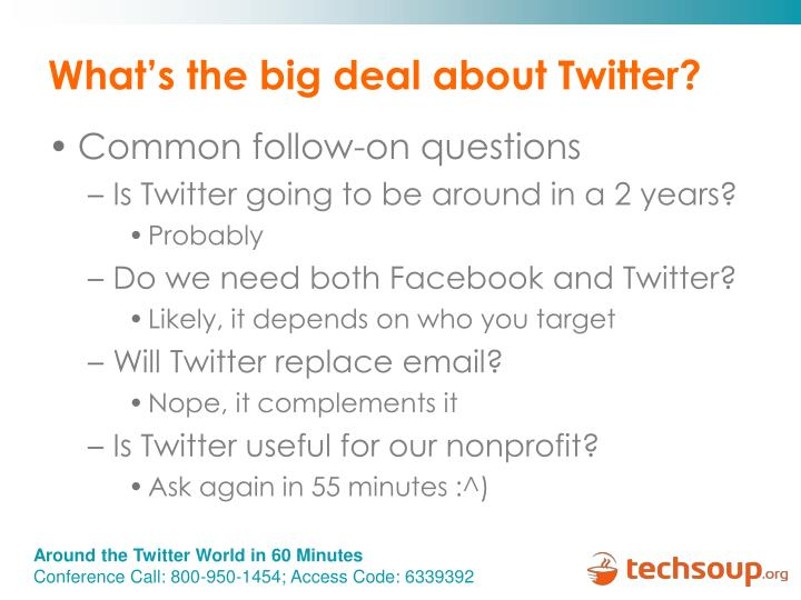 What's the big deal about Twitter?