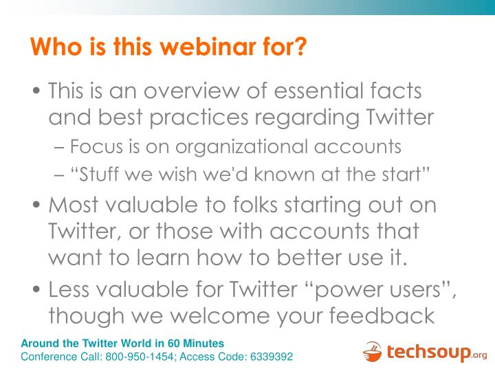 Who is this webinar for?