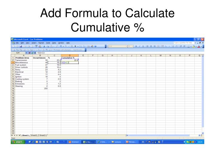 Add Formula to Calculate Cumulative %