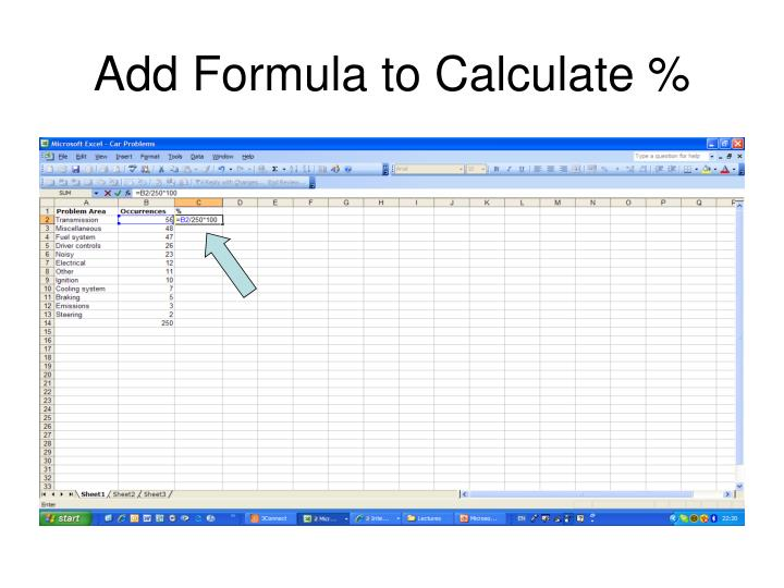Add Formula to Calculate %