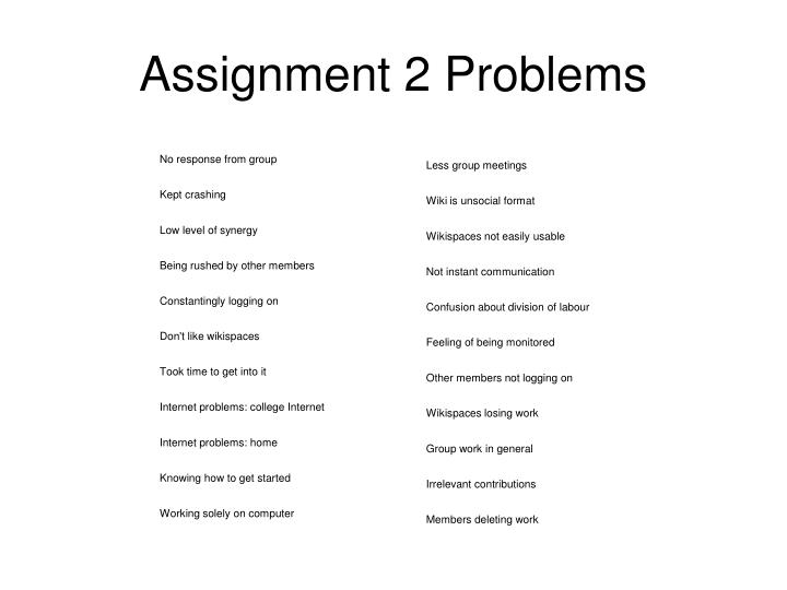 Assignment 2 Problems