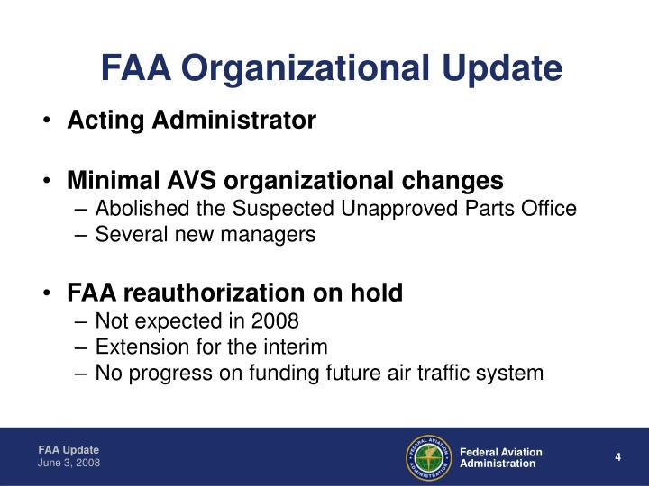 FAA Organizational Update
