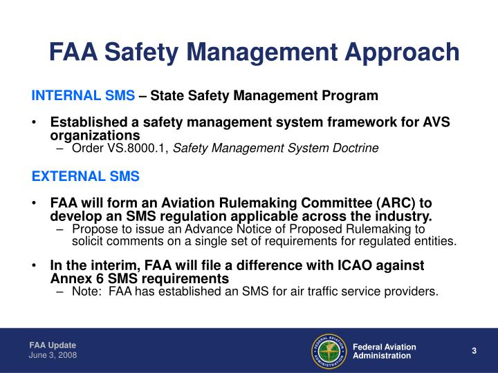 FAA Safety Management Approach