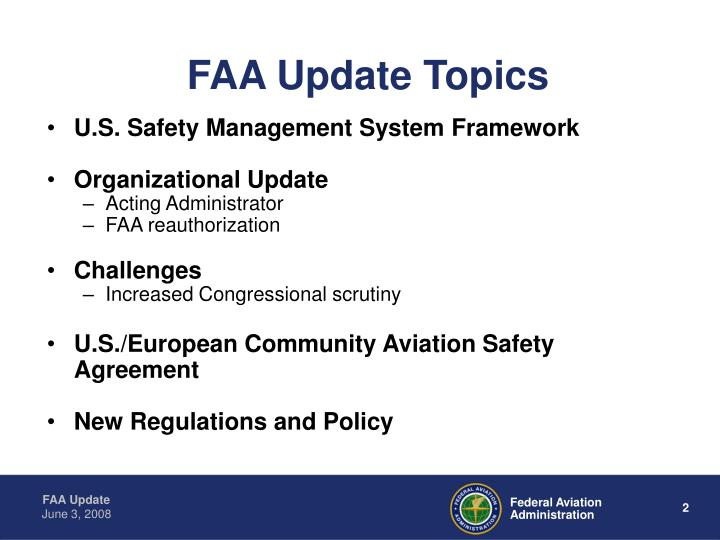 FAA Update Topics