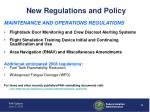 new regulations and policy1