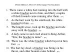from malory s morte d arthur page in brackets