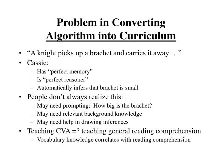 Problem in Converting