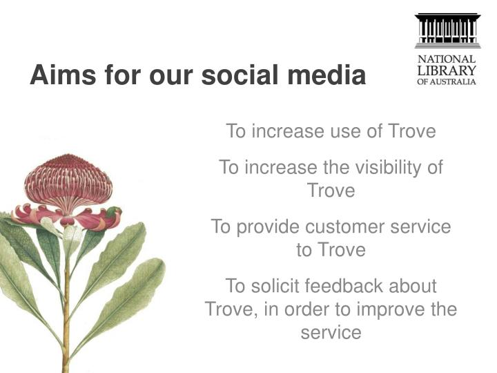 Aims for our social media