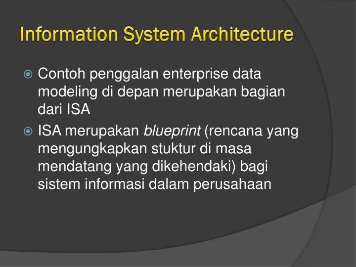 Information System Architecture