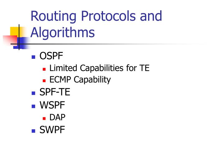 Routing Protocols and Algorithms