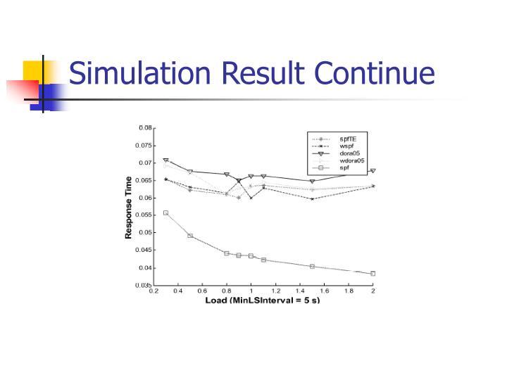 Simulation Result Continue