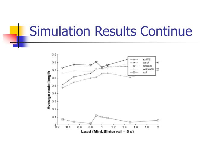 Simulation Results Continue