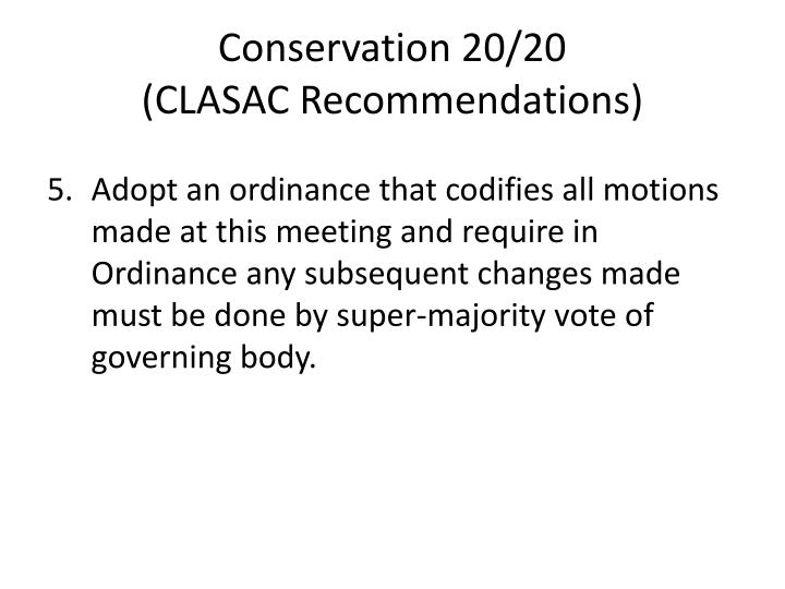 Conservation 20/20