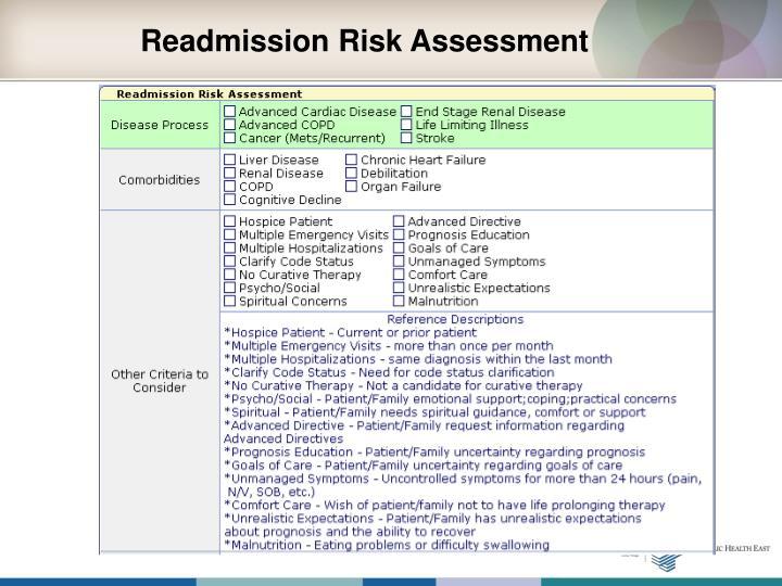 Readmission Risk Assessment