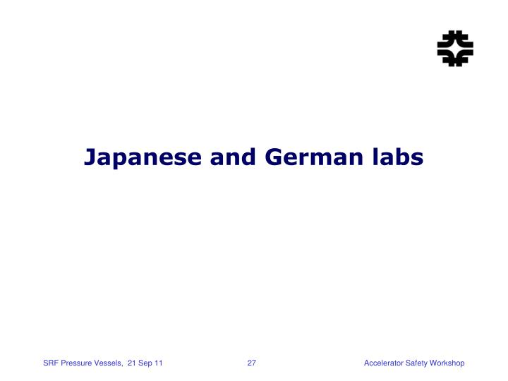 Japanese and German labs