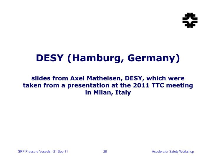 DESY (Hamburg, Germany)
