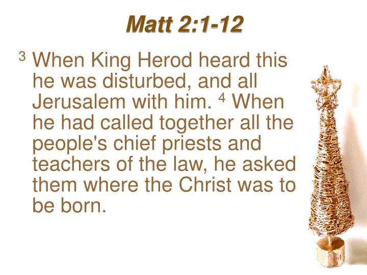 Matt 2:1-12