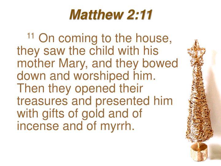 Matthew 2:11