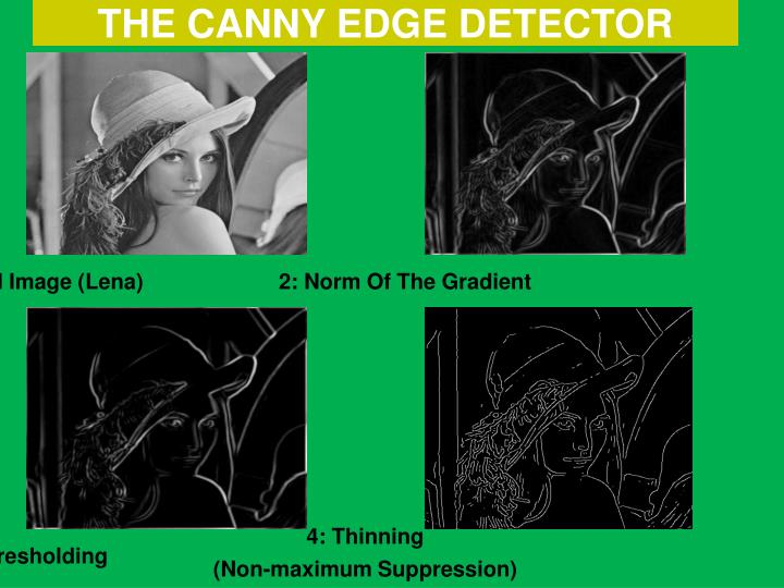 THE CANNY EDGE DETECTOR