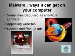malware ways it can get on your computer