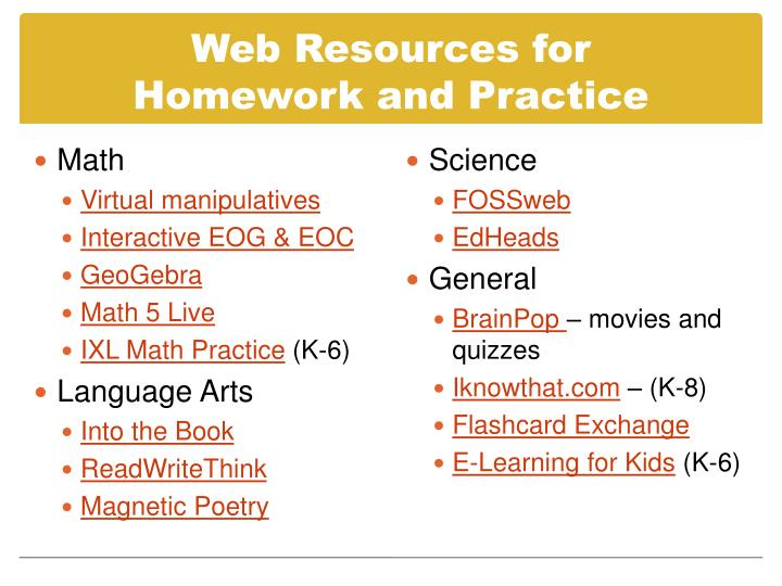 Web Resources for