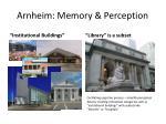 arnheim memory perception