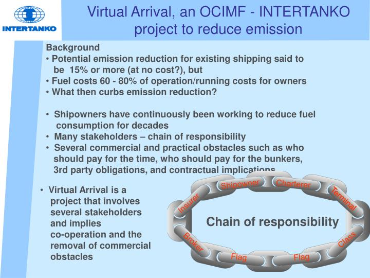 Virtual arrival an ocimf intertanko project to r educe emission