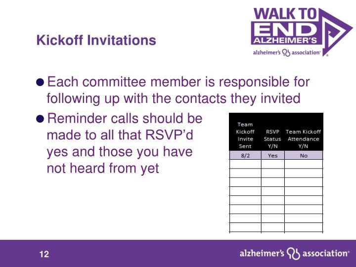 Kickoff Invitations
