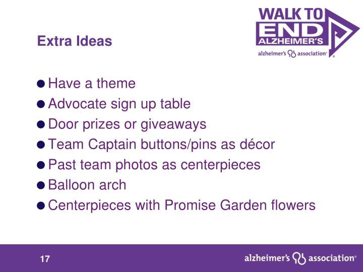 Extra Ideas