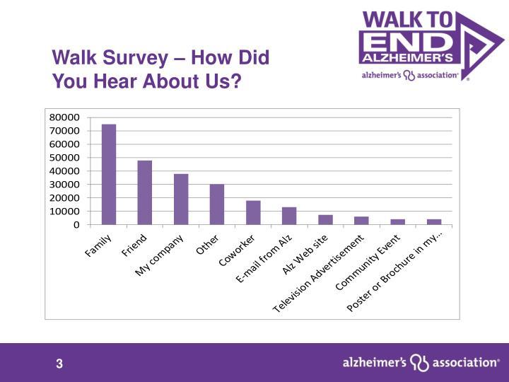 Walk Survey – How Did