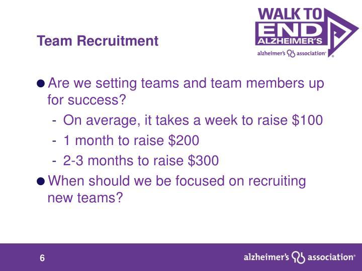 Team Recruitment