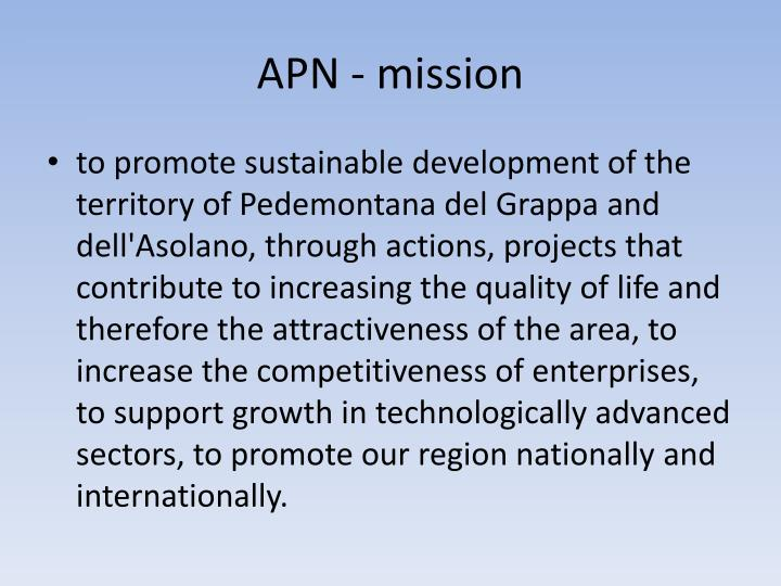 APN - mission