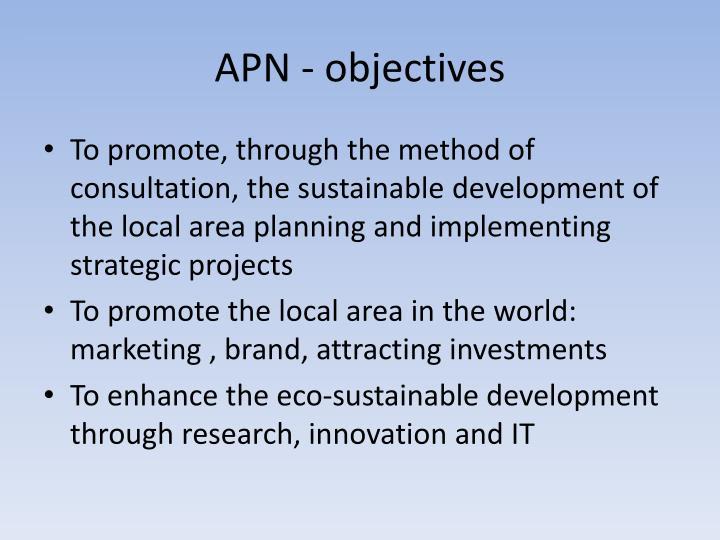 APN - objectives