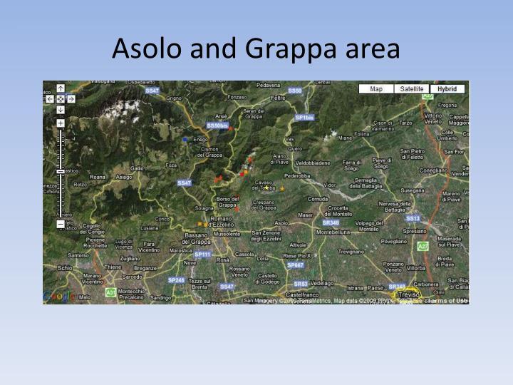 Asolo and Grappa area