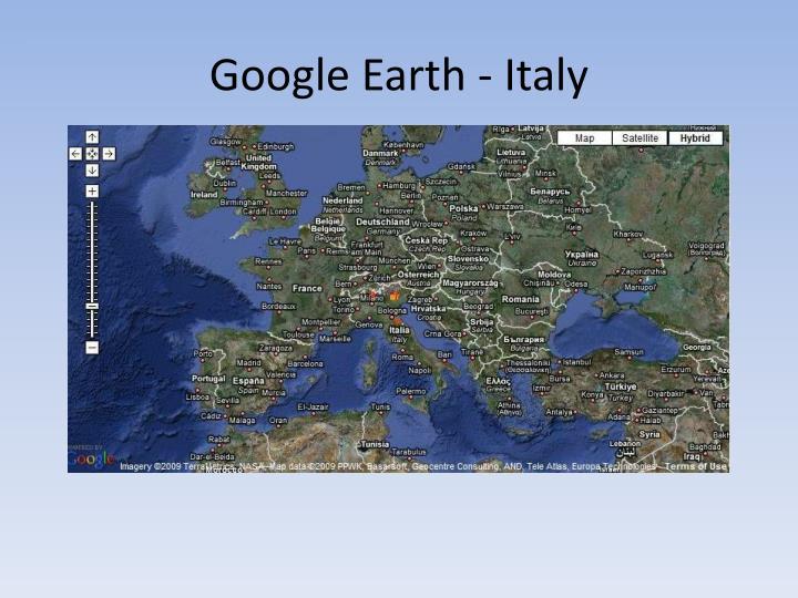 Google Earth - Italy