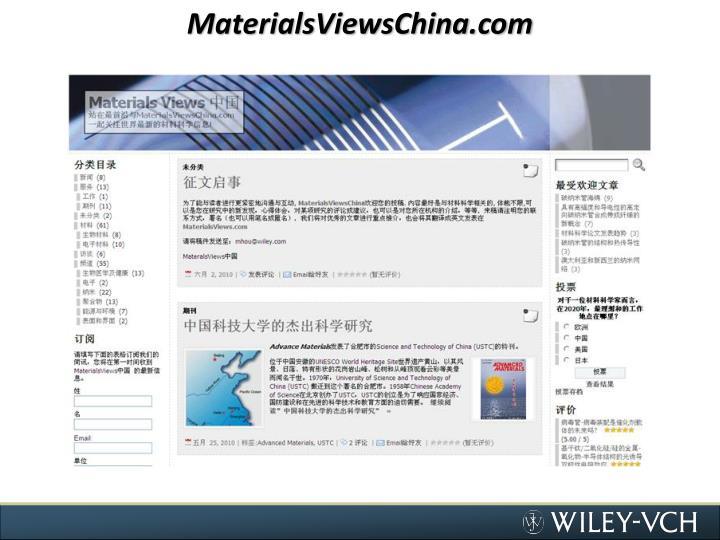 MaterialsViewsChina.com