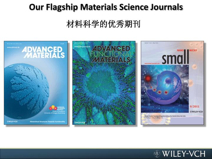 Our Flagship Materials Science Journals